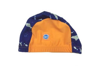 (Medium/18 Months, Shark Orange) - Splash About Baby Swimming Hats
