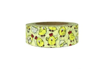 (Silly Chickens) - AllyDrew Decorative Washi Masking Tape, Silly Chickens