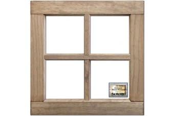 Salvaged 4-Pane Wood Window Frame 41cm x 41cm X1.60cm