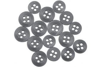(Standard, Dark Gray) - ButtonMode Standard Shirt Buttons 16pc Set includes 8 Shirt Front Buttons x 12mm (14/32 Inch), 4 Shirt Sleeves x 10mm (13/32 Inch) and 4 Shirt Collar Buttons x 9mm (11/32 Inch), Dark Grey, 16-Buttons