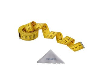(120 Inch, 1 Pack, Yellow) - Wisdompro® 120-Inch/300cm Soft Tape Measure for Sewing Tailor Cloth, Body Measurement - Yellow