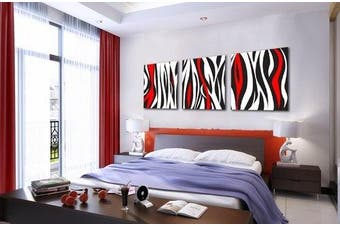 (framed) - Espritte Art-Huge Red and Black and White Abstract Art Picture Painting on Canvas Print Stretched and Framed, Modern Home Decorations Wall Art set of 3 Each is 50*50cm #cy-274