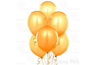 """(Pack of 100, 12"""" Gold) - 30cm Pearlized Latex Balloons (Premium Helium Quality), Pack of 100, Metallic Gold"""