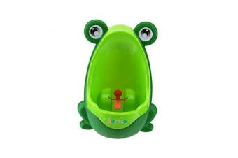 (Green) - Soraco Cute Frog Boys Potty Toilet Trainning with Whirling Target Green