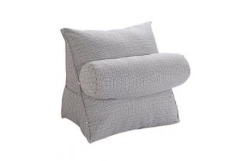 (Gray) - Halovie Adjustable Back Wedge Cushion Pillow 47*45*23 Sofa Bed Office Chair Rest Cushion Neck Support Pillow Pearl Wool (Grey)