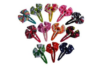 (Print hair bows 20 colors) - Bzybel Baby Girls Boutique Grosgrain Ribbon Hair Bow Clips 3.8cm 6.4cm Newborn Small Hairbows With Alligator Clips,Barrettes