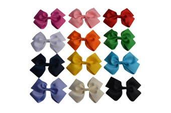 Bzybel 15cm Little Girl's Boutique Big Hair Bow Clips Grosgrain Ribbon Bows Alligator Clips Headbands,Barrettes for Keens Kids Toddlers Children