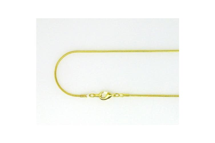 """10pcs Snake Chain Necklace 22"""" Length, 1.5mm Thickness, Gold Plated Brass"""