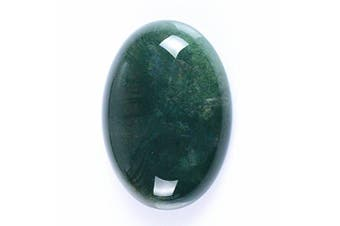 (Indian Agate) - 30x22mm Oval Cabochon CAB Flatback Semi-precious Gemstone Ring Face (Indian Agate)