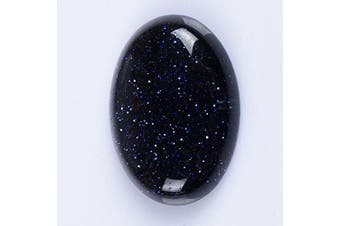 (Blue Sandstone) - 25x18mm Oval Cabochon CAB Flatback Semi-precious Gemstone Ring Face (Blue Sandstone)