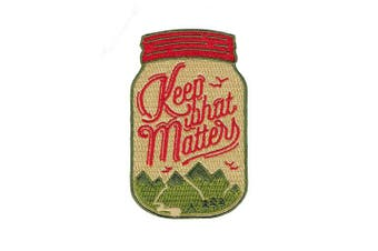 (Keep What Matters) - Asilda Store Embroidered Sew or Iron-on Patch (Keep What Matters)