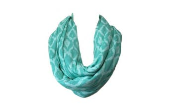 (Aqua Diamonds) - Two Sided Infinity Nursing Scarf Best Breathable PRIVACY Cover for Mom Baby