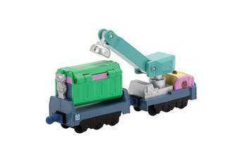 (Irving's Rubbish and Recycling Cars) - Diecast Chuggington Irving's Rubbish and Recycling Cars