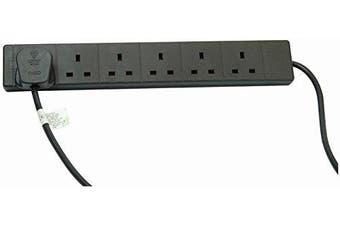 PRO ELEC - Extension Lead, 6 Socket, 3 Metres (Black)