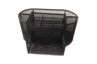 (Black) - Mesh Desk Organiser Set Office Tidy .Desktop Multi-functional Storage Pen Pencil Holder,Black