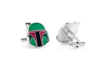 Beaux Bijoux Star Wars Cufflinks - Plated Boba Fett Helmet Cuff Links - Men's Shirt Accessory in Gift Box