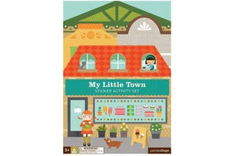 (Town) - Petit Collage Sticker Activity Set, My Little Town