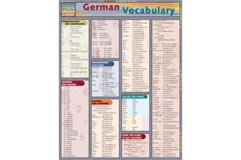 German Vocabulary Laminate Reference Chart