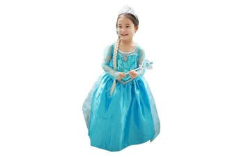 (3-4YR) - LOEL Girls New Princess Party Costume Long Dress Up for 3-4 Years
