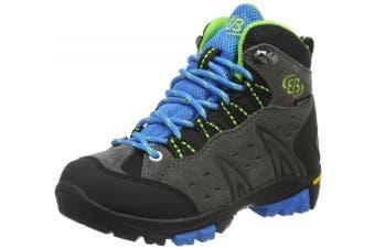(11 UK Child, Grey (Grau/Blau/Lemon)) - Bruetting Boys' Mount Bona High Kids walking and hiking boots