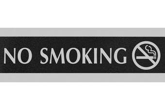 (No Smoking) - HeadLine Sign Century Series 7.6cm x 23cm No Smoking Sign, Black and Silver (4757)