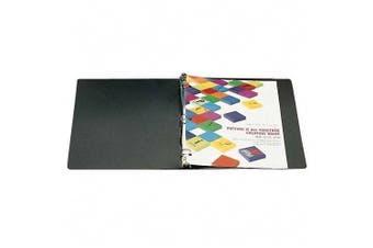 "ACCOHIDE & reg Poly Ring Binder, 35-Pt. Cover, 2.5cm "" Capacity, Black (ACC39711)"
