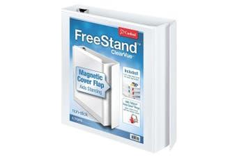 (3.8cm ) - Cardinal FreeStand ClearVue Easy Open Locking Slant-D Ring Binder, 3.8cm , White