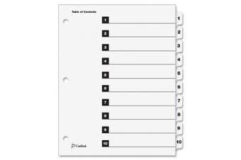 (10-Tab (Single Set), White) - Cardinal OneStep Index System, 10-Tab, Numbered, White, 1 Set (61013CB)