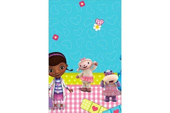 Doc McStuffins Rectangular Table Cover Birthday Party Tableware Decoration (1 Piece), Blue/Pink, 140cm x 240cm .