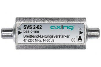 Axing 20 dB 47 - 2200 MHz Broadband Inline Amplifier Satellite and Terrestrial