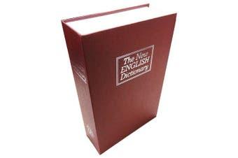 (Medium, Red) - BlueDot Trading Dictionary Secret Book Hidden Safe with Key Lock, Medium, Red