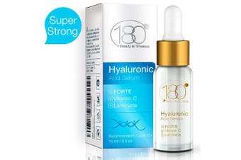 180 Cosmetics Hyaluronic Acid Forte with Vitamin C Anti Ageing Serum, 0.5 oz / 15 ml