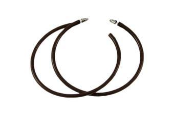 (Brown) - Neon Hoop Earrings 80's Fancy Dress Costume Accessory