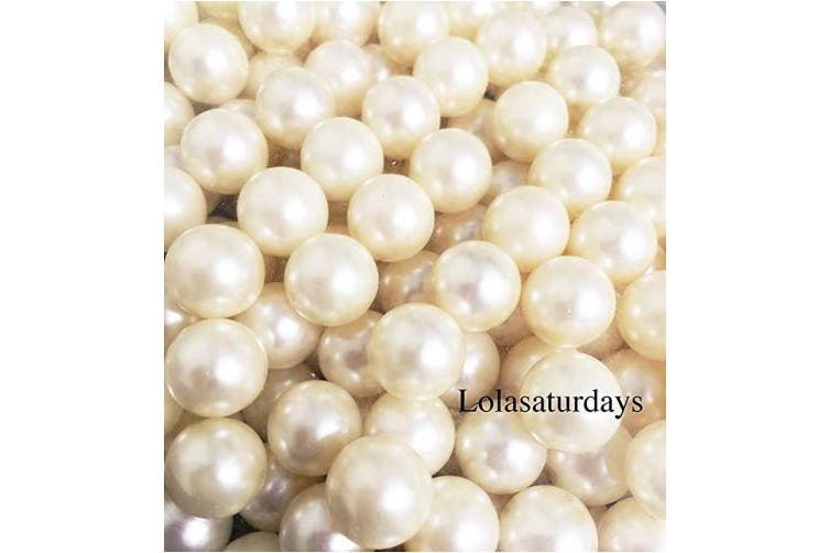 (14mm, ivory) - LolaSaturdays Pearls 0.5kg Loose Beads - no Hole (14mm, Ivory)