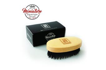1541 London Travel Sized Beechwood Beard Brush with Pure Black Bristle