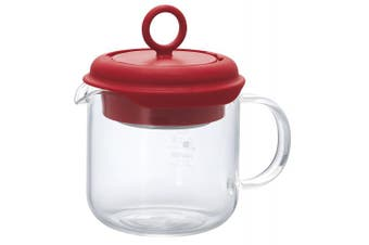 (Red) - Hario PTM-35-R Pull-Up Tea Maker, Red