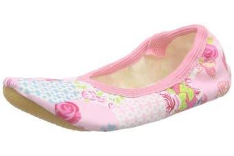 (10.5 UK Child, Pink - Pink (03)) - Beck Girls' Roses Gymnastics Shoes