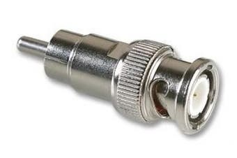 C4A® BNC Male to RCA Male Adapter / Converter / CCTV etc