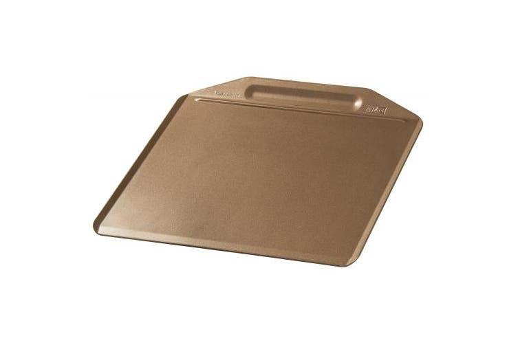 """Zenker """"Mojave Gold"""" Baking Tray, Stainless Steel, Gold/Mahagony, 36 x 33 cm"""