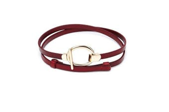 (Red) - Boshiho® Women's Ms lady Leather Cowhide Belt 100% Full Grain Leather Apparel Belt Buckle Waist Belt Thin Band (Red)