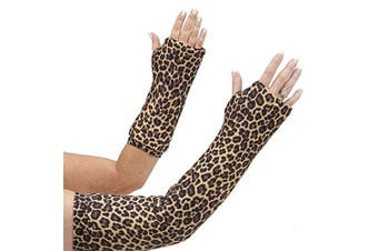 CastCoverz! Armz! Washable and Reusable Cast Cover in Classic Cheetah - Medium Short