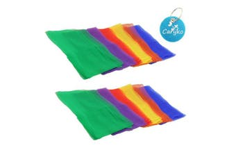 Carykon 60cm Hemmed Square Juggling & Dance Scarves for Creative Childhood Play Magic Show Ornament Hairstyle, 6 Colours, 12Pcs