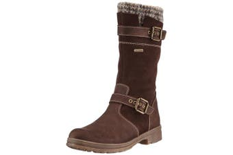 (8 Child UK, Brown (Denver Espresso)) - Däumling Marco Rv - Alia Rv, Girls' Warm lined classic boots long length