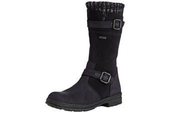 (2 UK, Blue (denver Ozean 47)) - Däumling Marco Rv - Alia Rv, Girls' Warm lined classic boots long length