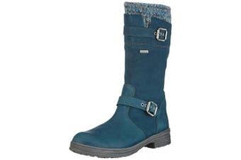 (7 UK, Bleu - Blau (Denver petrol)) - Däumling Marco Rv - Alia Rv, Girls' Warm lined classic boots long length