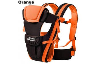 (A-Orange) - GudeHome Baby Carrier 4 Positions Backpack, Front Facing, Kangaroo & Sling Lightweight Infant Carrier