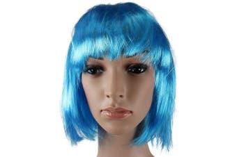 (Light Blue) - Light Blue Short Bob Wig Cosplay Fancy Dress Festival