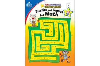 (1) - Puzzles and Games for Math Grade 3 (Home Workbooks: Gold Star Edition)