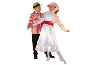 (11-13 years) - Victorian-Stage-Musical-Dance-World Book Day-Poppins JOLLY HOLIDAY Child's Fancy Dress Costume - All Ages (11-13 years)