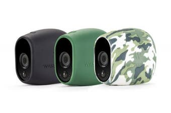 (Arlo HD, Black/Green/Camouflage) - 3 x Silicone Skins for Arlo Pro Smart Security - 100% Wire-Free Cameras by Wasserstein ... (Arlo HD, Black/Green/Camouflage)
